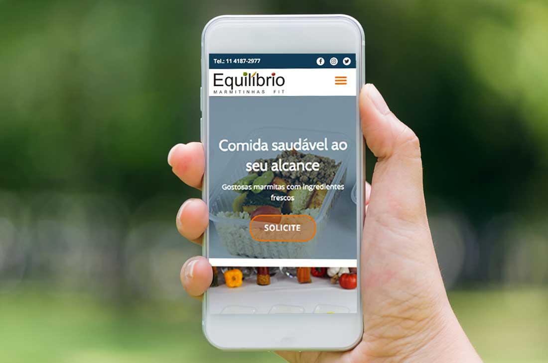 Site Fit Equilibrio para Smartphone