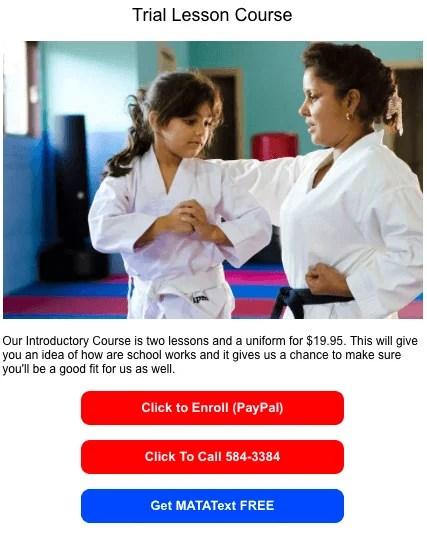 text marketing for martial arts schools