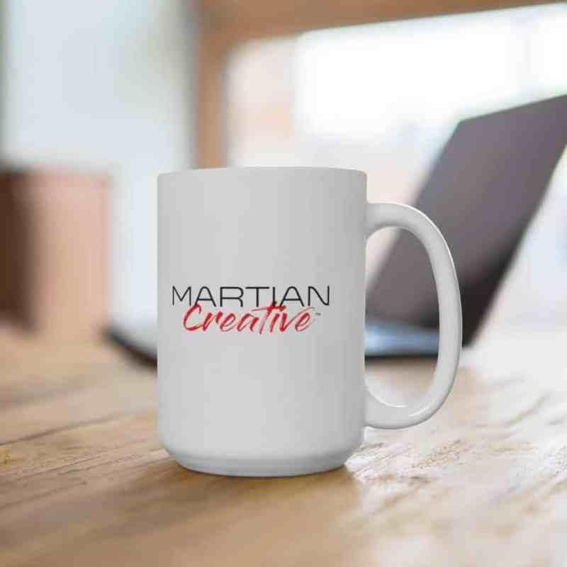 Martian Creative™ Logo White Ceramic Mug
