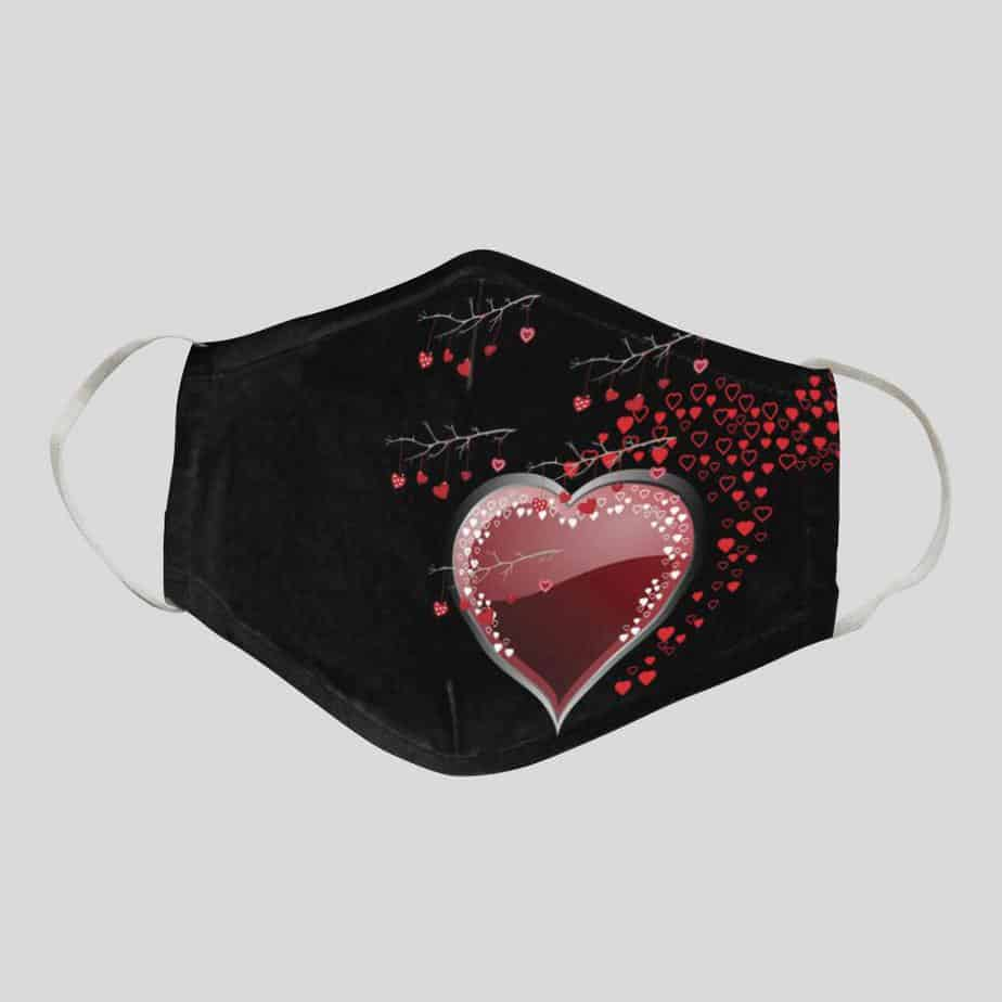 Hearts of Love Nose Fit Face Mask