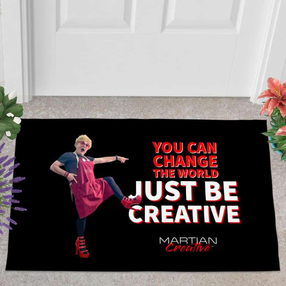 """An Action™ """"Change The World"""" Doormat"""
