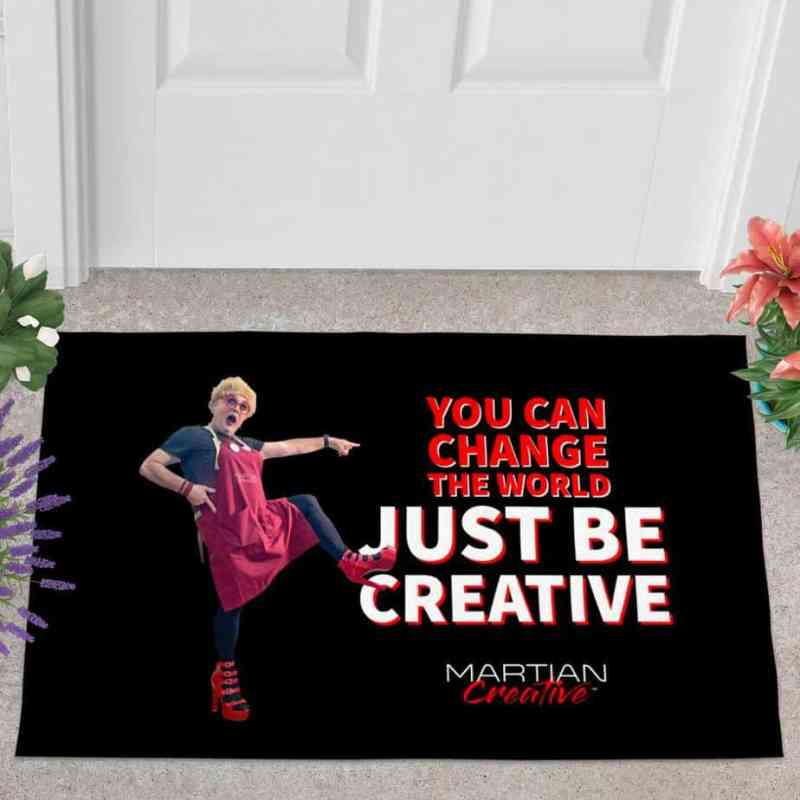 "An Action™ ""Change The World"" Doormat"