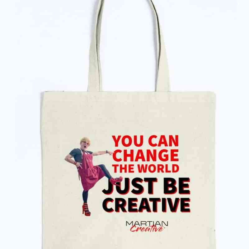 An Action™ Change The World Canvas Tote