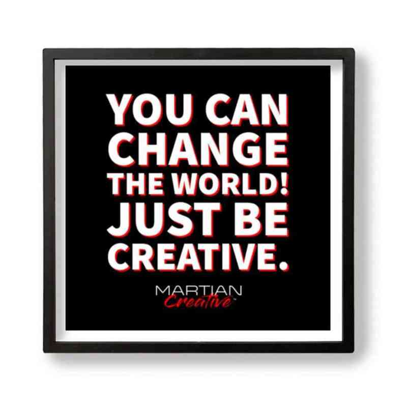 You Can Change The World Tile Wall Art