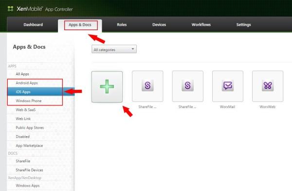 Add a Citrix MDX application