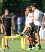 kaka first training milanello (1)