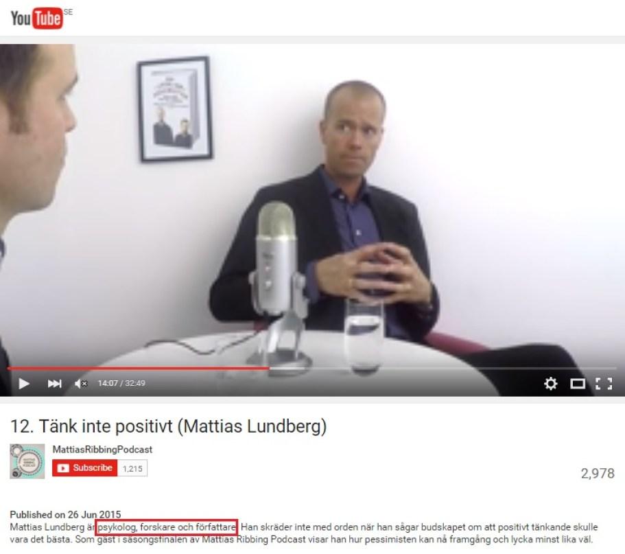 Youtube - Mattias Ribbing