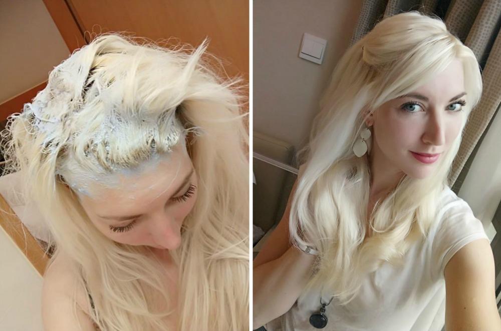kliar i hårbotten efter färgning