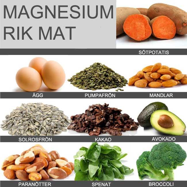 mat rik på magnesium