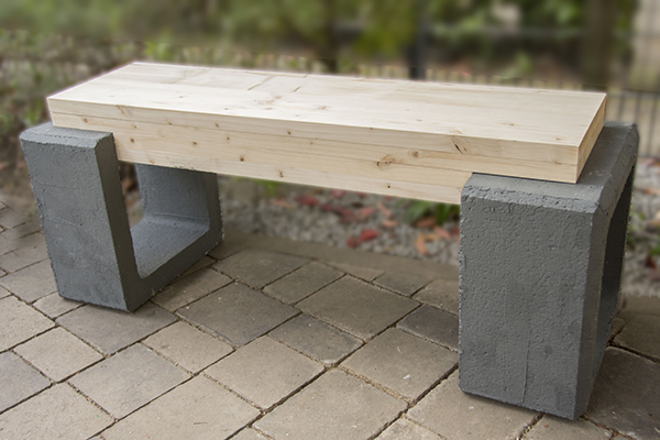 Gemeinsame Beton Holz Bank | Diy - Gartenbank Mit Beton Und Holz - Leelah Loves #TA_45