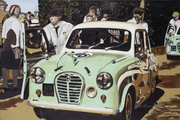 Austin A35 race car art Goodwood Revival 2016 driver Ben Colburn
