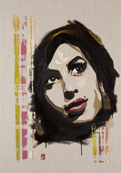 Back to Black paintings for sale of Amy Winehouse
