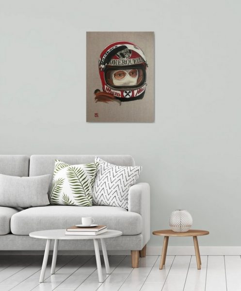 Niki Lauda fine historic motor art portrait
