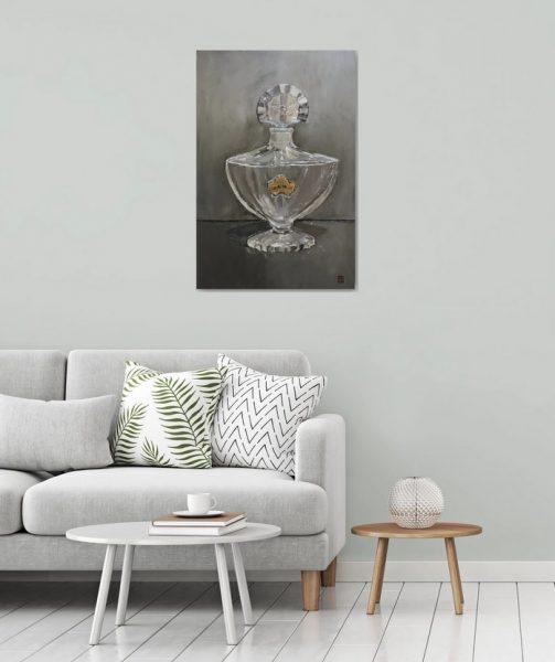 Guerlain Shalimar Perfume Bottle wall art oil painting for bedroom