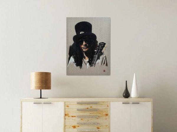 Slash Guns n Roses wall art print