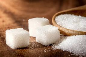 white sugar cubes on a table