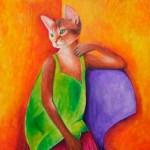 Katzenfrau - Gemälde von Ina-Griet Raatz-von Hirschhausen