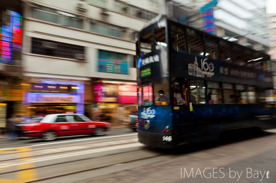 Bus and Taxi in Hong Kong