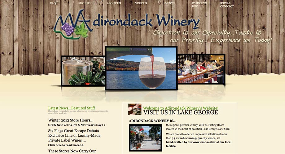 Winery Page Preview