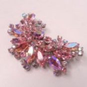 Weiss pink rhinestone brooch
