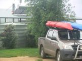 Kayaks on Ute ready for anything