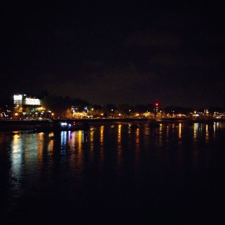 Stroll toward Putney bridge before our show at the Half Moon