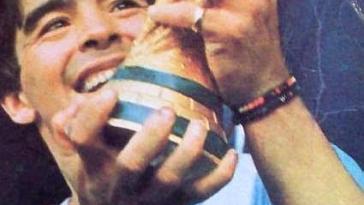 Diego Maradona en 1986