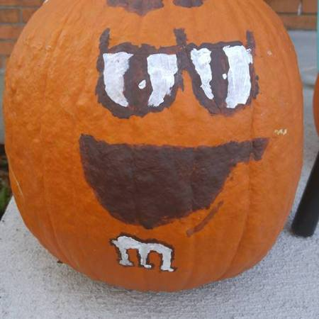 M&M pumpkin