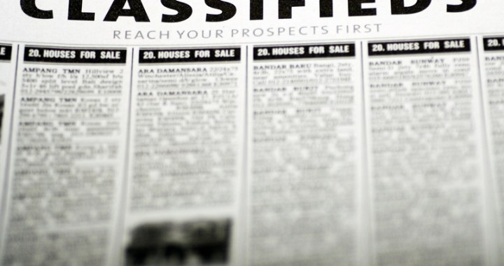 Classified Ads – December 2016