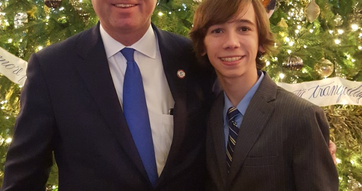 Councilman Taylor and Son Attend White House Holiday Reception