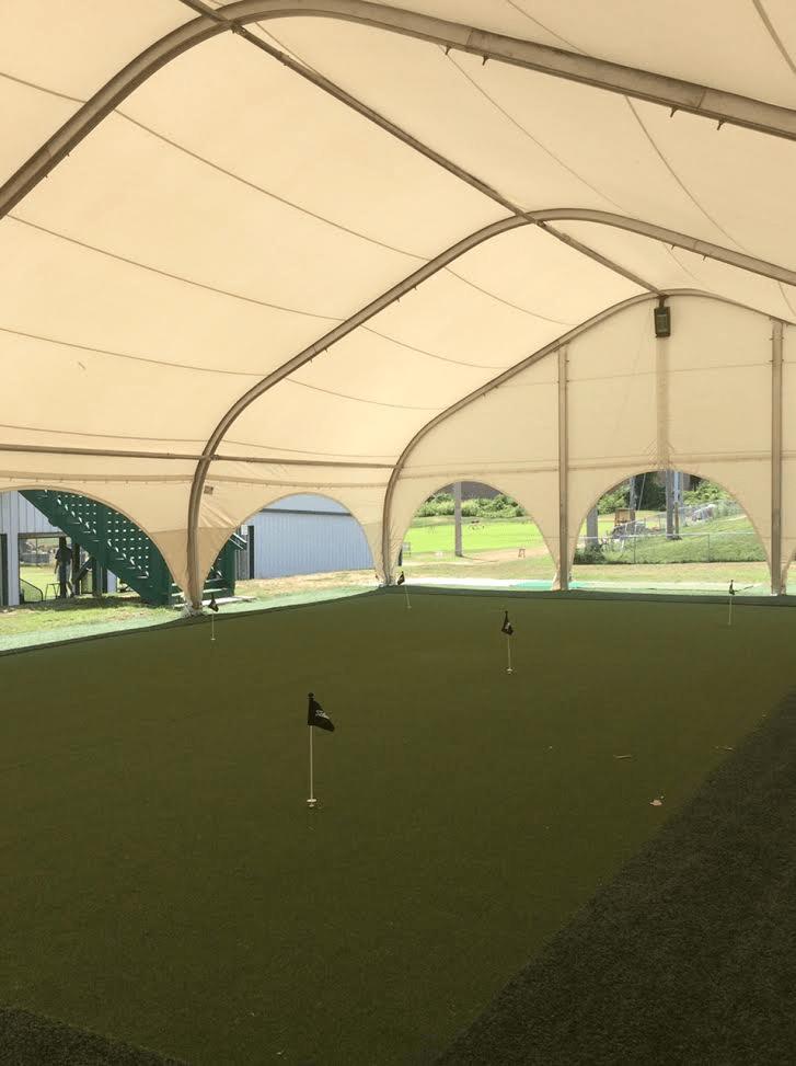 Martin City Golf Center putt practice