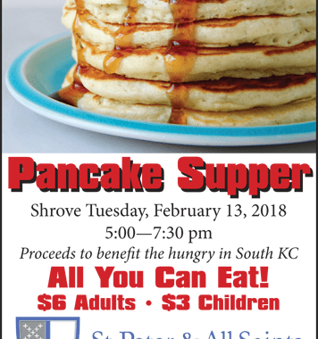 Red Bridge church holds pancake supper on Shrove Tuesday