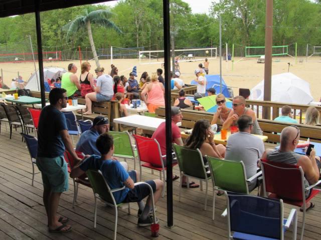 volleyball beach deck