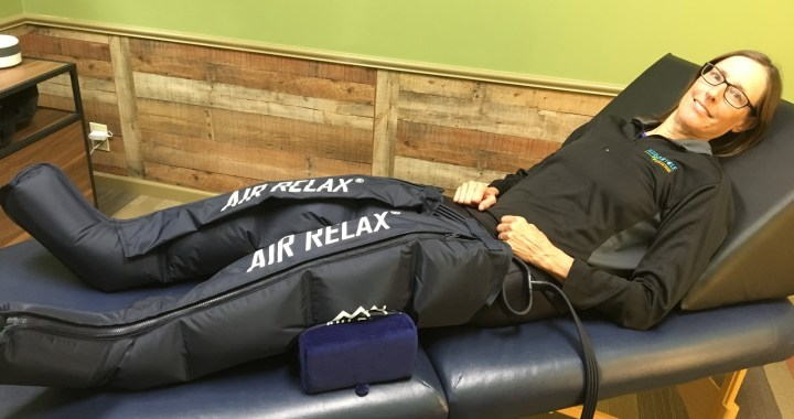 For weekend warriors, air massage is a nice touch