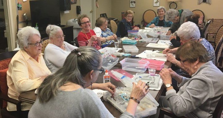 Brookdale residents string beads year round for upcoming jewelry sale