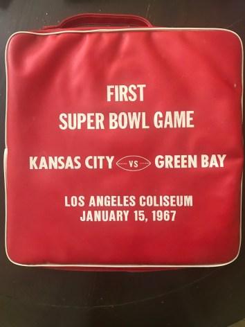 First Super Bowl bag