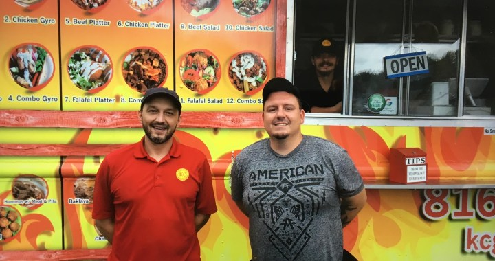Two guys and a Greek food truck