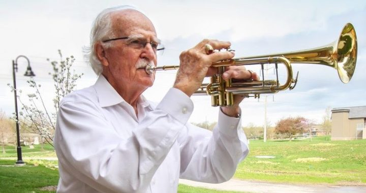 """Day is done."" Former Center HS band teacher played Taps every evening at John Knox Village"