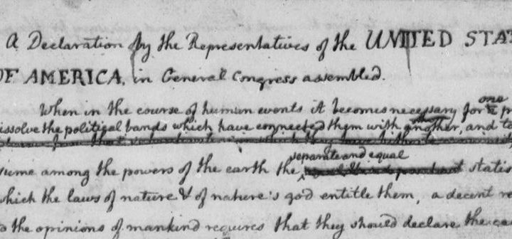 """Reproducing the Declaration of Independence has had its challenges; Grandview displays latest """"most accurate"""" version"""
