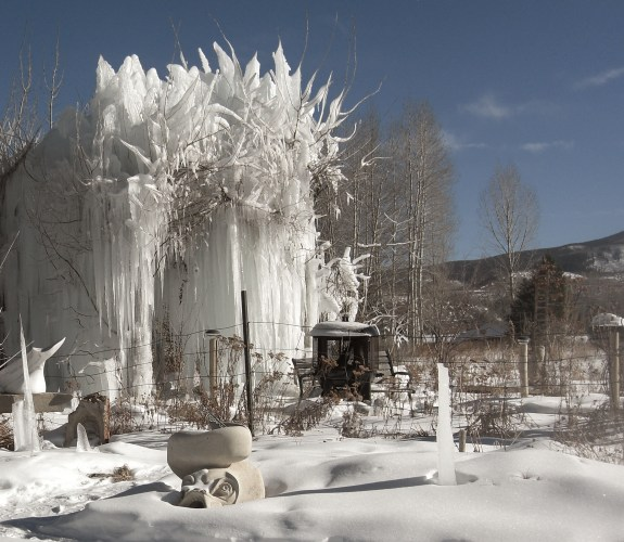 Sea Monster Sundial Guards The Ice Palace in the Sculpture Garden @ martincooney.com