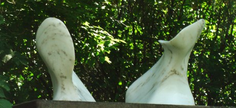 """Port """"Thing One"""", Starboard """"Thing Two"""", The Maiden Collection, Colorado Yule Marble Sculpture by Martin Coooney"""