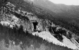 Colorado Yule Marble Quarry, Entrance, Early photograph