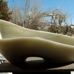"""$3,550 Along The Way 23.5x11.5x10.5"""", 1314 Winter Collection, Colorado Yule Marble Sculpture by Martin Cooney"""