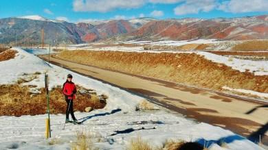 RioGrande Track-Bed Trail, Kris, Woody Creek, CO