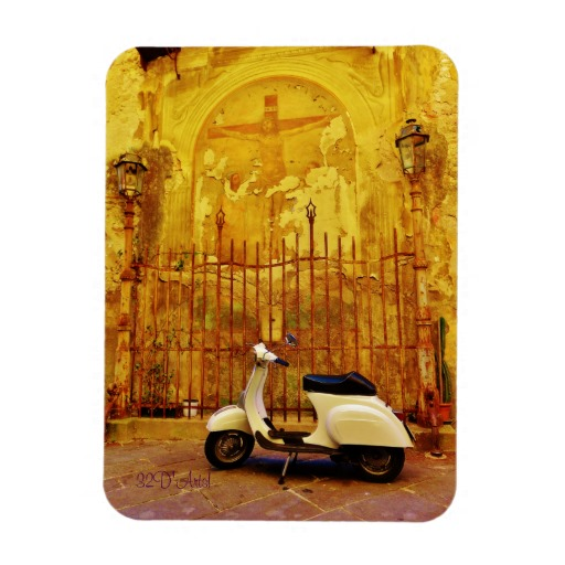 Parked Scooter Collection Box, 3 x 4 inchPhoto Fridge Magnet