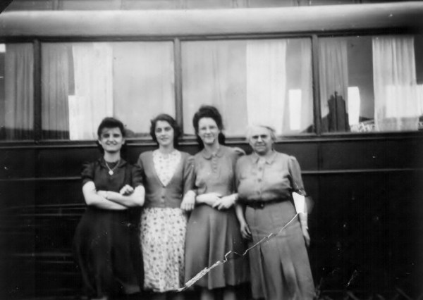 Railway Carriage Camper, Ruth 1st left