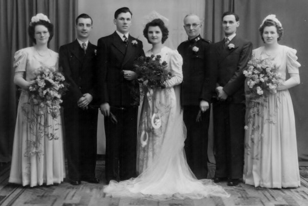 Wedding Photo, James Parker Cooney and Ruth Margaritte Cooney