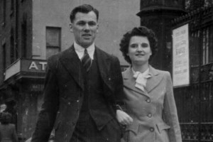 Newlyweds, James and Ruth Cooney, Church Street, Preston, England