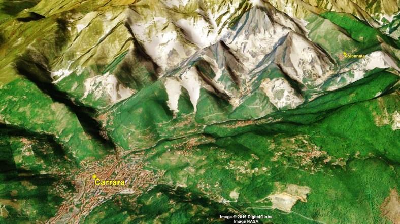 Carrara Marble Quarries Carrara Map 5 Google Earth