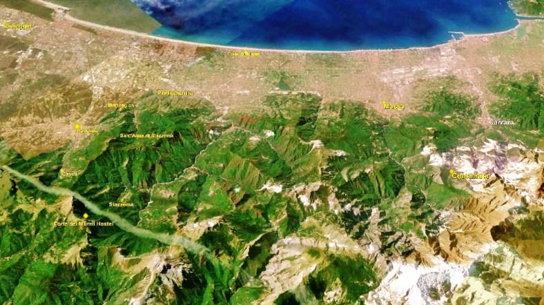 Colonnata Map 2 Google Earth